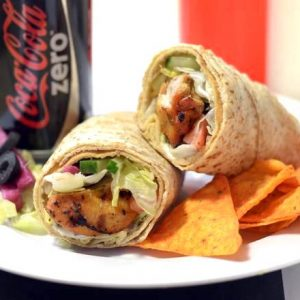 Chicken Kabob Wrap Combo